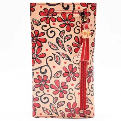 Porte-chéquier Macha red flower