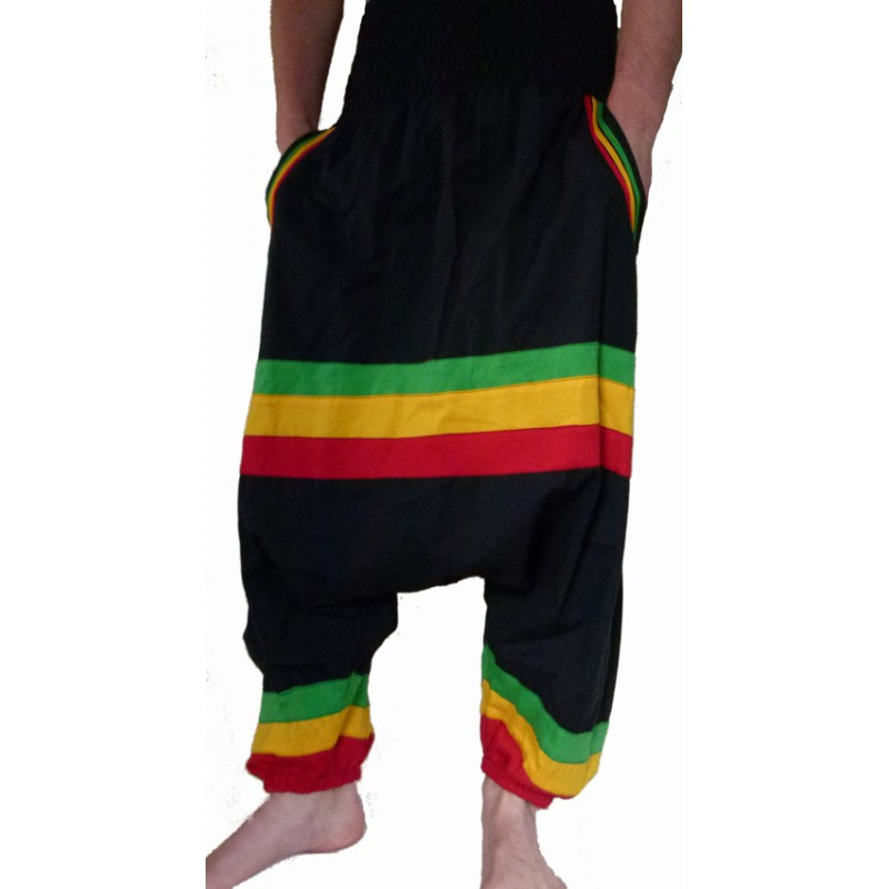 sarouel ethnique rasta baba cool pas cher hippie chic. Black Bedroom Furniture Sets. Home Design Ideas