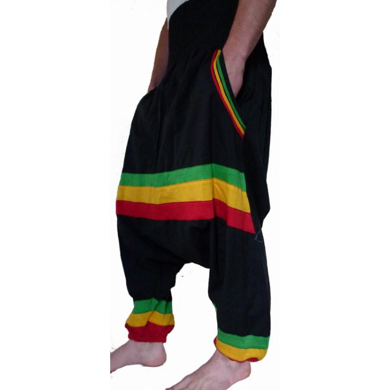 Sarouel ethnique rasta baba cool pas cher hippie chic teufeur karnabi - Vetements hippie baba cool ...