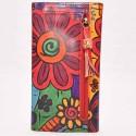 Porte-chéquier Macha rouge flower2