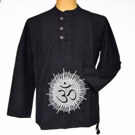 Chemise Om coton noire