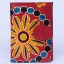 Portefeuille Macha fleurs rouge