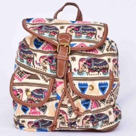sac à dos langmaï petit éléphant beige