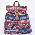 sac à dos langmaï petit éléphant bleu et rouge