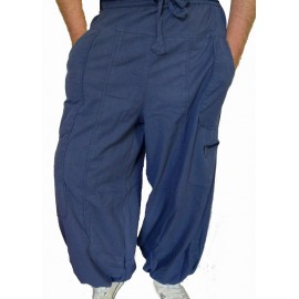 Pantalon ethnique Storm bleu pétrole