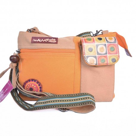 Sac Macha Kanpur beige et orange XL