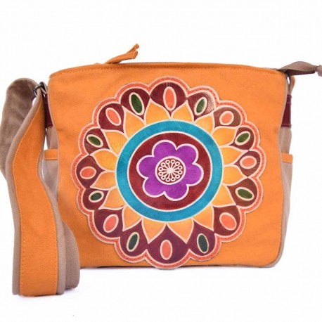 Sac Macha Taly beige et orange