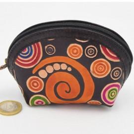 Porte monnaie Macha asia noir spirales
