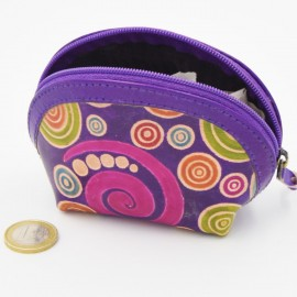Porte monnaie Macha asia violet spirales