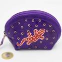 Porte monnaie Macha asia violet gecko