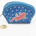 Porte monnaie Macha asia bleu gecko