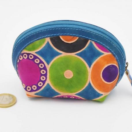 Porte monnaie Macha asia bleu ronds