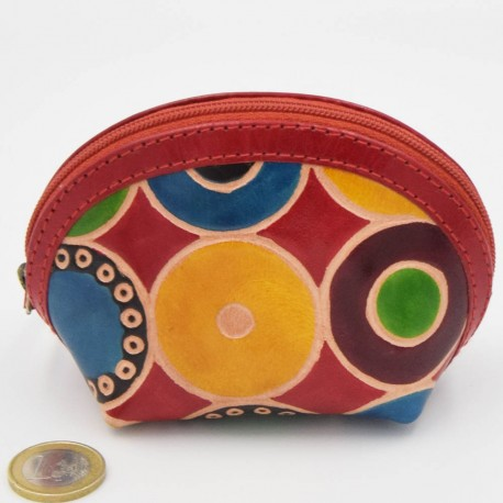 Porte monnaie Macha asia rouge ronds