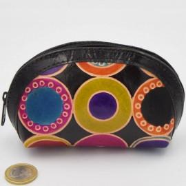 Porte monnaie Macha Aria ronds noir