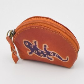 Porte monnaie Macha Art orange gecko violet