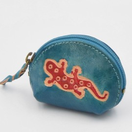Porte monnaie Macha Art Gecko bleu2