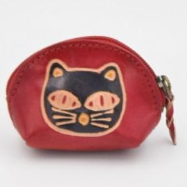 Porte monnaie Macha Art rose chat noir