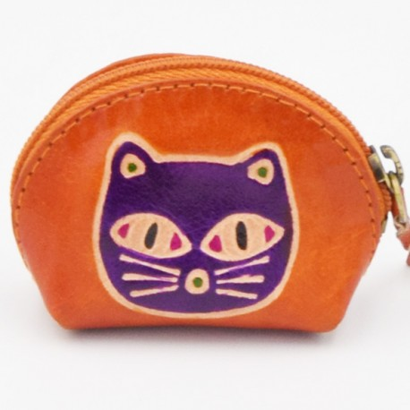 Porte monnaie Macha Art rose chat violet