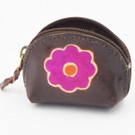 Porte monnaie Macha Art choco fleur fushia