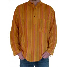 Chemise indienne ethnique orange