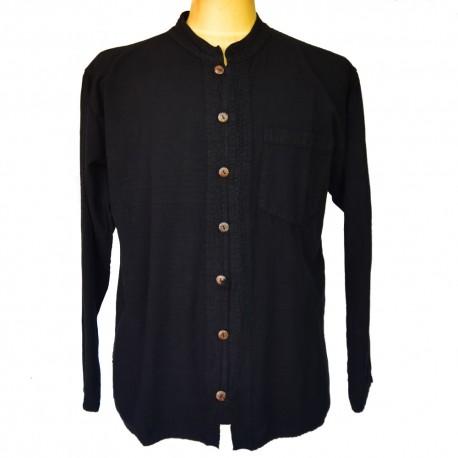 Chemise Pali coton noire