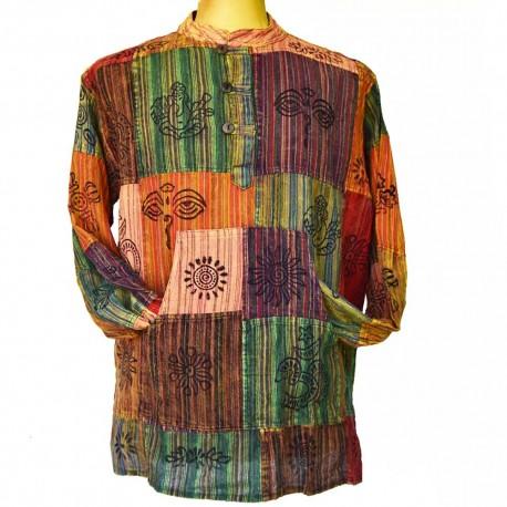Chemise patchwork coton