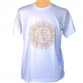 tee shirt Om blanc
