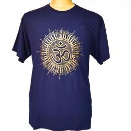 tee shirt Om bleu