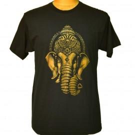 tee shirt éléphant noir