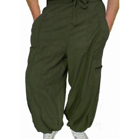 Pantalon ethnique Storm kaki