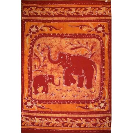 Tenture indienne ethnique éléphants