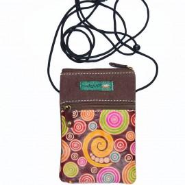 pochette Macha lama choco spirales