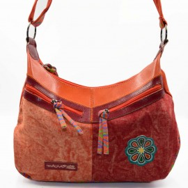 Sac ethnique femme Macha Kolan orange