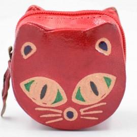 Porte monnaie Macha chat rouge