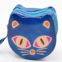 Porte monnaie Macha chat bleu