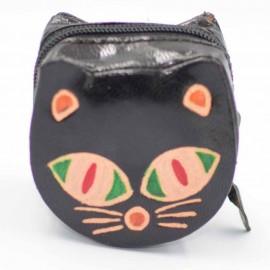 Porte monnaie Macha chat vert