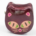 Porte monnaie Macha chat bordeaux
