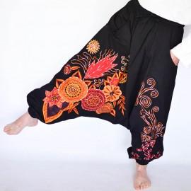 Sarouel ethnique flowermax noir