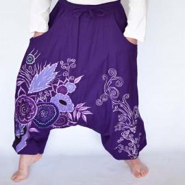 Sarouel ethnique flowermax violet