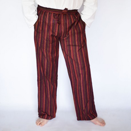 Pantalon coolman bordeaux