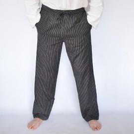 Pantalon coolman noir rayé
