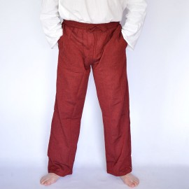 Pantalon coolman uni bordeaux