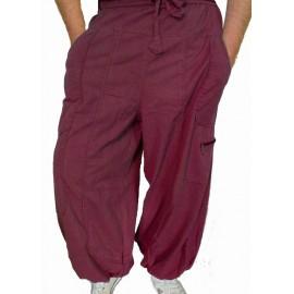 Pantalon ethnique Storm bordeaux
