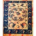 Tenture ethnique indienne gecko orange
