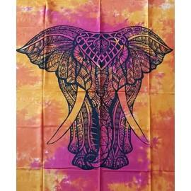 Tenture ethnique indienne elephant face2