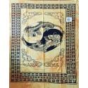 Tenture ethnique indienne yin yang tigre