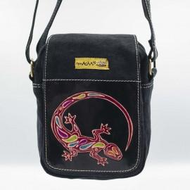 pochette gecko noire