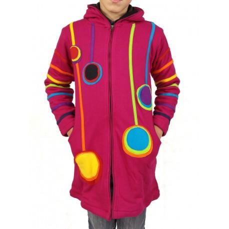 Manteau ethnique enfant color baba cool hippie capuche lutin - Porte vetement enfant ...