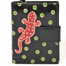 Portefeuille Macha gecko noir