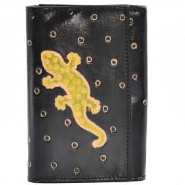 Portefeuille Macha gecko noir3